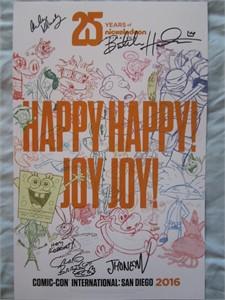 Nickelodeon original creators autographed 2016 Comic-Con poster