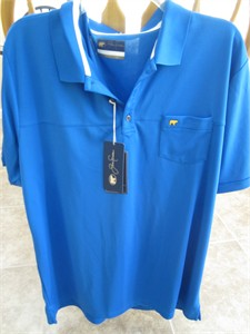 Jack Nicklaus Golden Bear blue Staydri golf shirt XL BRAND NEW WITH TAGS