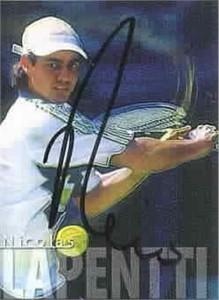 Nicolas Lapentti autographed 2000 ATP Tour tennis card