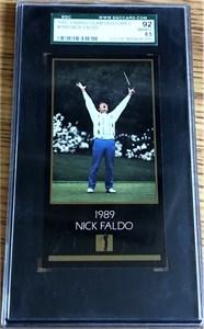 Nick Faldo 1997 Masters card SGC 92 NrMt-Mt+ (PSA 8.5)