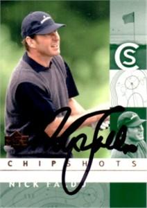 Nick Faldo autographed 2002 Upper Deck golf card