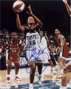 Nikki McCray autographed 8x10 WNBA Washington Mystics photo
