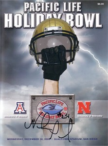 Niles Paul (Nebraska) autographed 2009 Holiday Bowl program