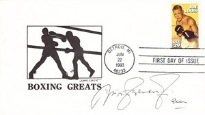 Nino Benvenuti autographed 1993 Joe Louis boxing First Day Cover