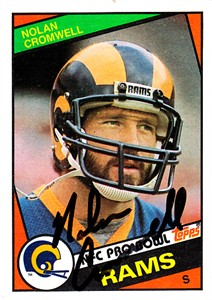 Nolan Cromwell autographed Los Angeles Rams 1984 Topps card