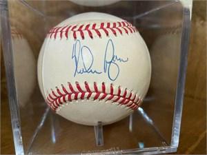 Nolan Ryan autographed American League baseball #411/5714