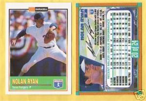 Nolan Ryan 1993 Duracell card #20 MINT