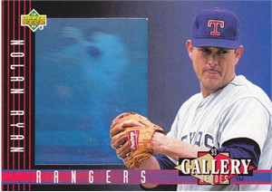 Nolan Ryan 1993 Upper Deck Gallery of Heroes hologram card #30