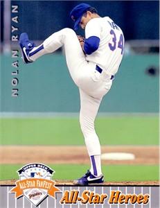 Nolan Ryan 1993 Upper Deck UDA JUMBO All-Star FanFest Texas Rangers card #1202/5000