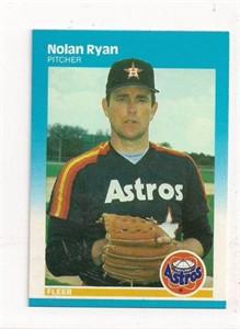 Nolan Ryan Houston Astros 1987 Fleer card #67 NrMt-Mt