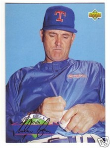 Nolan Ryan Rangers 1993 Upper Deck On Deck insert card #D20
