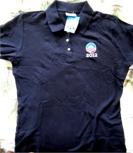Barack Obama 2012 ladies black golf or polo shirt BRAND NEW