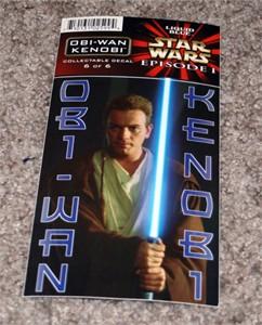 Obi-Wan Kenobi Star Wars Episode 1 decal or sticker