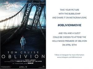 Oblivion movie 2013 Wondercon EXCLUSIVE promo card set (Tom Cruise Morgan Freeman)