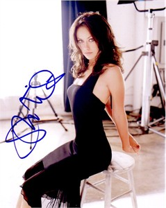 Olivia Wilde autographed 8x10 black dress photo