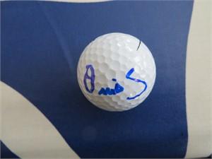 Ollie Schniederjans autographed golf ball