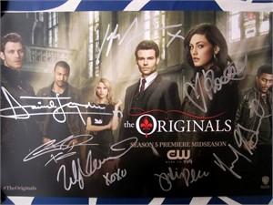 The Originals cast autographed 2017 Comic-Con poster (Charles M. Davis Daniel Gillies Joseph Morgan Phoebe Tonkin)
