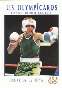 Oscar De La Hoya 1992 U.S. Olympic Hopefuls boxing Rookie Card