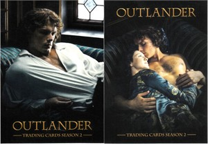 Outlander Season 2 Cryptozoic 2017 promo trading cards P2 & P3