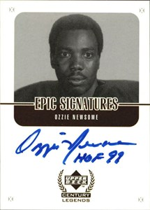 Ozzie Newsome Cleveland Browns certified autograph Upper Deck Legends card