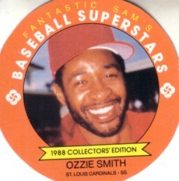 Ozzie Smith Cardinals 1988 Fantastic Sam's disc