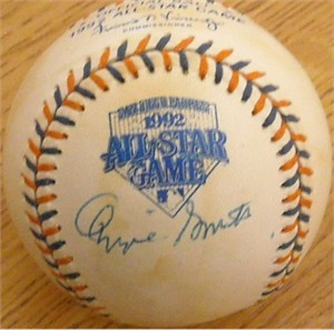 Ozzie Smith autographed 1992 All-Star Game baseball