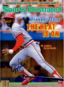 Ozzie Smith autographed St. Louis Cardinals 1985 Sports Illustrated