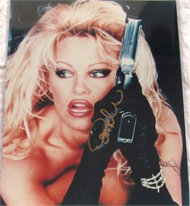 Pamela Anderson autographed Barb Wire 16x20 poster size photo