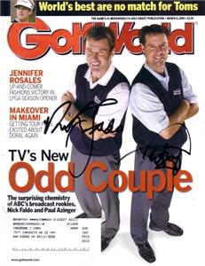 Paul Azinger & Nick Faldo autographed 2005 Golf World magazine