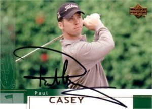 Paul Casey autographed 2002 Upper Deck golf card