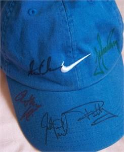 Paul Casey Stewart Cink Trevor Immelman Anthony Kim Justin Leonard autographed Nike golf cap or hat