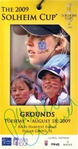 Paula Creamer autographed 2009 Solheim Cup ticket