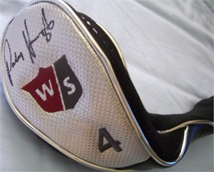 Padraig Harrington autographed Wilson Staff head cover