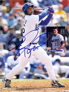 Paul Konerko autographed Los Angeles Dodgers Beckett back cover photo