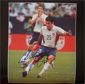 Pablo Mastroeni autographed U.S. Soccer calendar page