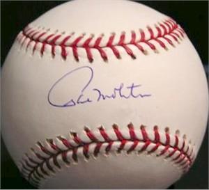 Paul Molitor autographed MLB baseball