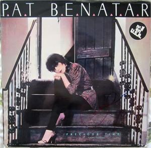 Pat Benatar autographed Precious Time record album