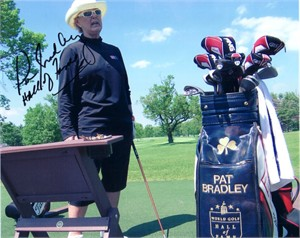 Pat Bradley autographed 8x10 golf photo