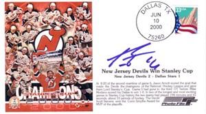 Patrik Elias autographed New Jersey Devils 2000 Stanley Cup Champs cachet envelope