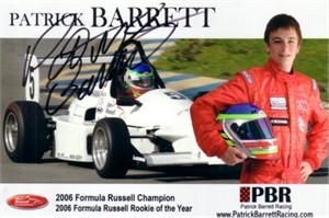 Patrick Barrett autographed 4x6 photo card