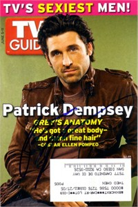 Patrick Dempsey autographed TV Guide magazine cover