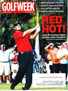 Patrick Reed autographed 2014 Golfweek magazine