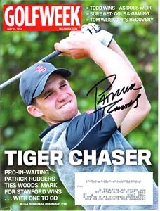 Patrick Rodgers autographed 2014 Golfweek magazine