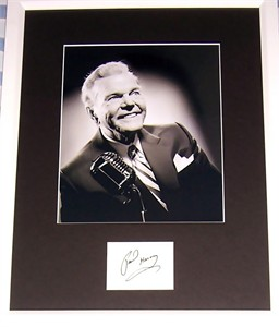 Paul Harvey autograph matted & framed with 8x10 photo