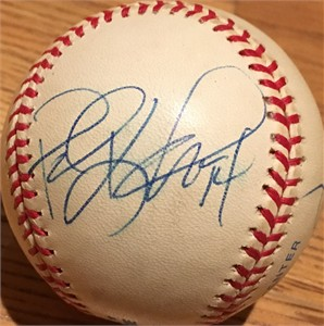 Paul Konerko & Ray Durham autographed American League baseball