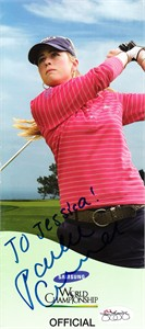 Paula Creamer autographed 2009 LPGA Samsung pairings guide cover JSA (personalized)