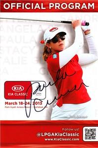 Paula Creamer autographed 2013 LPGA Kia Classic program