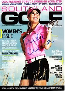 Paula Creamer autographed 2013 Southland Golf magazine
