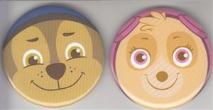 Paw Patrol 2016 Comic-Con Nickelodeon promo button or pin set