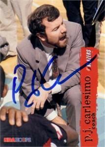 P.J. Carlesimo (Seton Hall) autographed 1995-96 Hoops card